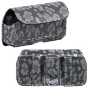 Insten® Horizontal Pouch For Samsung M850 Instinct HD/HTC G1, (723503) Silver/Gray