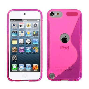 Insten® S-Shape Candy Skin Cover For iPod Touch 5th Gen, Hot-Pink