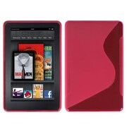 Insten® Candy Skin Cover For Kindle Fire, Hot-Pink/S-Shape