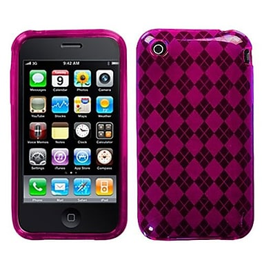 Insten® Argyle Candy Skin Cover F/iPhone 3G/3GS,/Hot-Pink