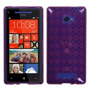 Insten® Argyle Candy Skin Cover For HTC Windows Phone 8X, Hot-Pink