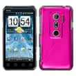 Insten® Back Protector Case For HTC EVO 3D/EVO V 4G, Hot-Pink Cosmo