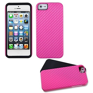 Insten® Crosshatch Fusion Protector Cover F/iPhone 5/5S, Hot-Pink