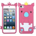 Insten® Crown Piggie Pastel Skin Cover For iPod Touch 5th Gen, Hot-Pink