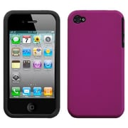 Insten® Fusion Rubberized Faceplate Case F/iPhone 4/4/4SG, Hot-Pink