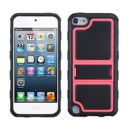 Insten® Gummy Armor Stand For iPod Touch 5th Gen, Hot-Pink