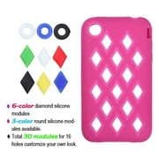Insten® Skin Cover F/iPhone 3G/3GS, Hot-Pink Module