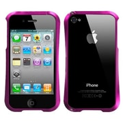 Insten® Chrome Coating Metal Surround Shield Protector Cover F/iPhone 4/4S, Hot-Pink Nitro