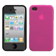 Insten® Phone Protector Cover F/iPhone 4/4S, Hot-Pink