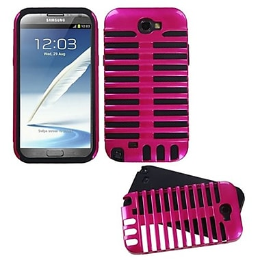 Insten® Microphone Fusion Protector Cover For Samsung Galaxy Note II, Hot-Pink/Black