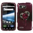 Insten® Protector Case For Motorola MB865 Atrix 2, I Heart Rock 2D Silver Sparkle
