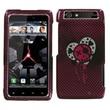 Insten® Protector Case For Motorola XT912 Droid RAZR Verizon, I Heart Rock 2D Silver Sparkle