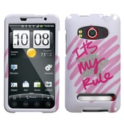 Insten® Protector Case For HTC EVO 4G, It's My Rule Sparkle
