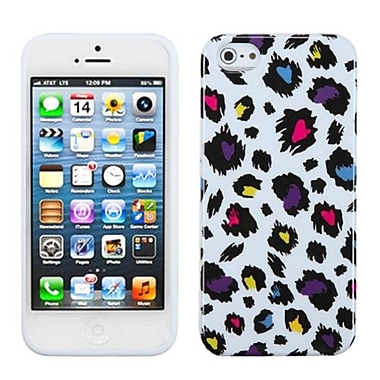 Insten® Argyle Candy Skin Cover F/iPhone 5/5S, Jagged Colorful Leopard