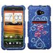 Insten® Diamante Protector Case For HTC EVO 4G LTE, Juicy Flower