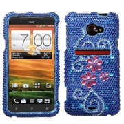 Insten® Diamante Protector Case For HTC EVO 4G LTE, Juicy Flower