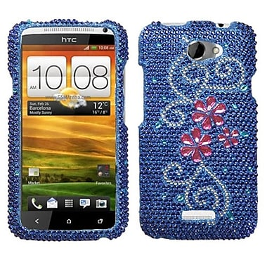 Insten® Diamante Protector Cover For HTC-One X/X+, Juicy Flower