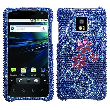 Insten® Diamante Protector Case For LG P999 G2X, Juicy Flower