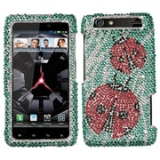Insten® Diamante Protector Case For Motorola XT912 Droid RAZR, Ladybugs