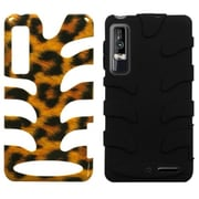Insten® Protector Cover For Motorola XT862 Droid 3, Leopard/Black Fishbone