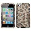 Insten® Snap-In Hard Protector Cover For iPod Touch 4th Gen, Fervor Heart With Full Rhinestones