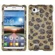 Insten® Diamante Protector Case For LG P880 Optimus 4X HD, Camel Leopard