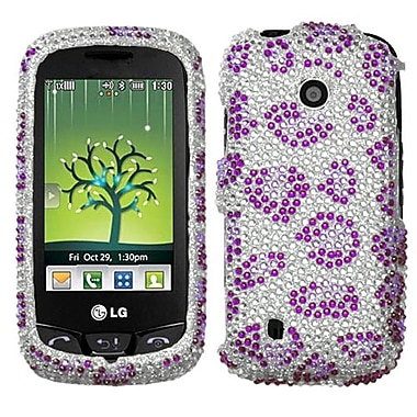 Insten® Diamante Protector Cover For LG VN270 Cosmos Touch, Purple Leopard