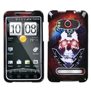 Insten® Protector Case For HTC EVO 4G, Lightning Skull