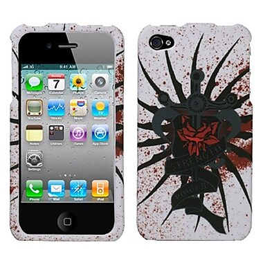 Insten® Phone Protector Cover F/iPhone 4/4S, Lizzo Bloody Rose