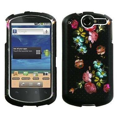 Insten® Phone Protector Case For Huawei U8800 Impulse 4G, Lizzo Blooming Flowers 2D Silver