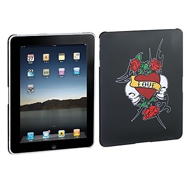 Insten® Back Faceplate Case For Apple iPad, Black Lizzo Gothic Rose