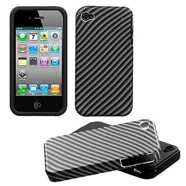 Insten® Fusion Faceplate Case F/iPhone 4/4/4SG, Lizzo Racing Fiber