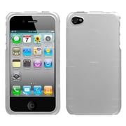 Insten® Phone Protector Cover F/iPhone 4/4S, Lizzo Solid 2D Silver