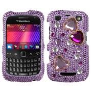 Insten® Diamante Phone Protector Case For BlackBerry 9360/9350, Love Crash