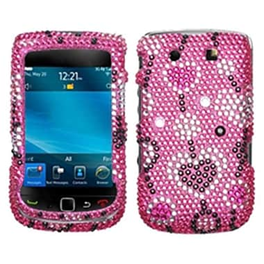 Insten® Diamante Faceplate Case For RIM BlackBerry 9800, Love River