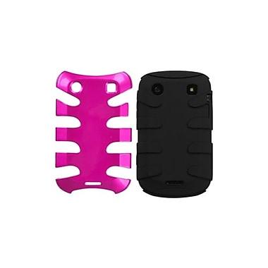 Insten® Fishbone Phone Protector Case For RIM BlackBerry 9930/9900, Metallic Hot-Pink/Black
