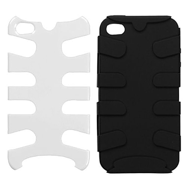 Insten® Fishbone Phone Protector Cover F/iPhone 4/4S, Natural Ivory White