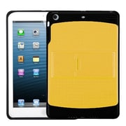 Insten® Gummy Cover With Stand For iPad Mini/iPad Mini 2, Natural Yellow/Solid Black