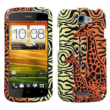 Insten® Snap-In Faceplate Case For HTC-One S, Orange Giraffe Pair