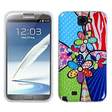 Insten® Candy Skin Cover For Samsung Galaxy Note II, Patchwork Flowers