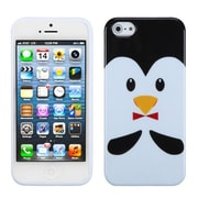 Insten® Argyle Candy Skin Cover F/iPhone 5/5S, Penguin/Yellow Nose