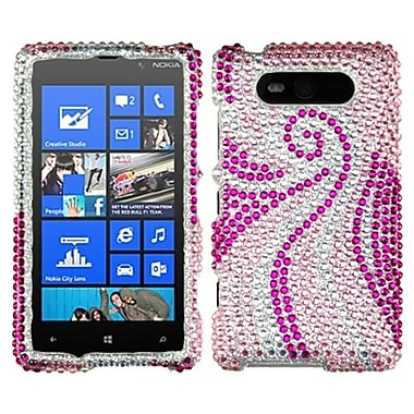 Insten® Diamante Protector Cover For Nokia 820, Phoenix Tail