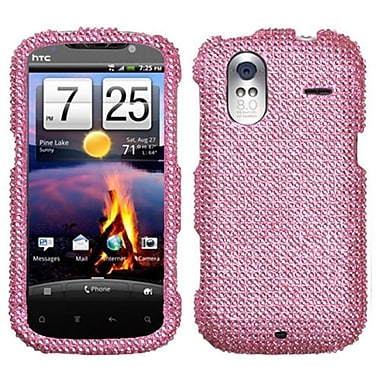 Insten® Diamante Faceplate Case For HTC Amaze 4G, Pink