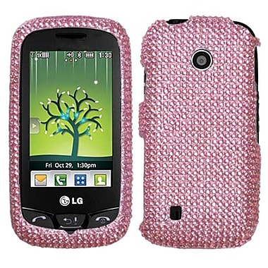 Insten® Diamante Protector Cover For LG VN270 Cosmos Touch, Pink