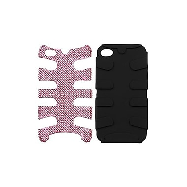 Insten® Diamante/Fishbone Phone Protector Cover F/iPhone 4/4S, Black/Black
