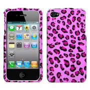 Insten® Phone Protector Cover F/iPhone 4/4S, Pink Leopard Skin