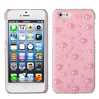 Insten® Pearl Diamante Back Protector Cover F/iPhone 5/5S, Pink
