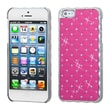 Insten® Luxurious Lattice Alloy Elite Dazzling Protector Cover F/iPhone 5/5S, Pink Silver Plating