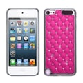Insten® Alloy Diamond Luxurious Lattice Phone Protector Cover For iPod Touch 5th Gen, Pink