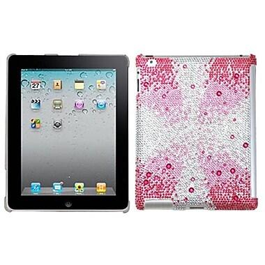 Insten® Diamante SmartSlim Back Protector Cover For iPad 2/3/4, Pink Starburst Gem Gradients